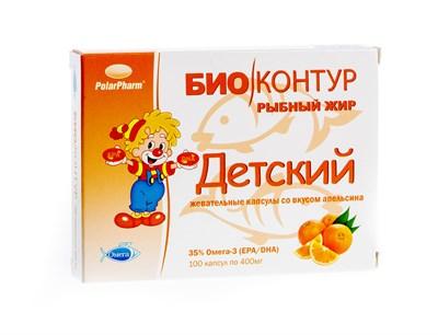 Детский рыбный жир со вкусом апельсина - фото 4780