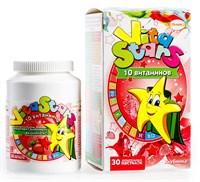 Мультивитаминный комплекс VitaStars 10 витамин со вкусом клубника